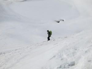 Einfahrt in den Gipfelhang