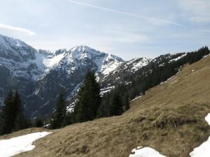 Der Kamm zum Dürrnbergjoch; ganz links der Grat, der zum Demeljoch führt.