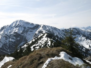 Blick vom Schürpfeneck zum Dürrnbergjoch