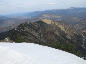 Rückblick über den Aufstiegskamm