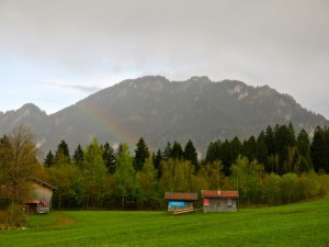 Regenbogen vor Laber