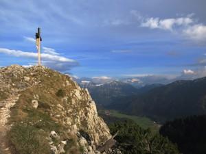 Am Gipfel des Kofel