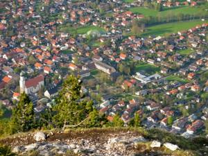 Tiefblick auf Oberammergau