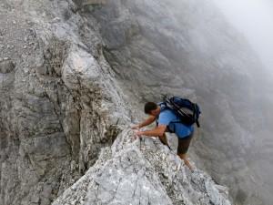 Jochen an einer der Kletterstellen