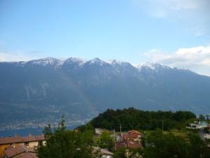 Regenbogen vor Monte Baldo
