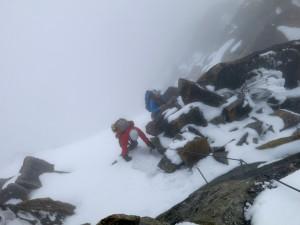 Schneewühlen im Nebel - das ist Hochtourenfeeling