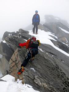 Auch im Abstieg mussten wir noch mal zupacken