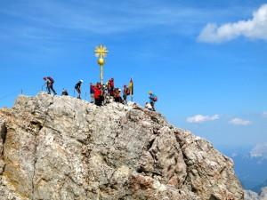 Gedränge am Gipfel