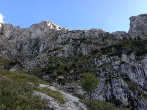 Hier führt der Maximiliansweg durch die Nordwand