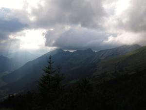 Wolken über dem westlichen Danielkamm