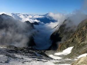 Im Gredetschtal hängen noch Wolken