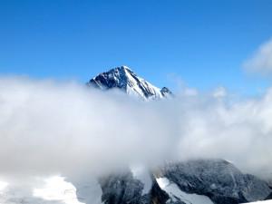 Wolkenband vor dem Aletschhorn