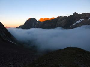 Morgennebel über dem Baltschiedertal