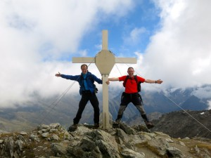 Spaß am Gipfelkreuz