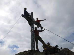 Noch mal Spaß am Gipfelkreuz