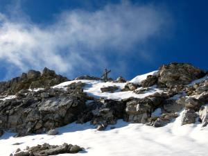 Die letzten Meter zum Gipfel der Großen Seekarspitze