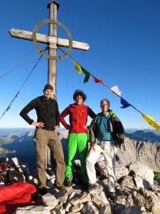 Mike, Michi und ich (von rechts nach links) auf der Birkkarspitze