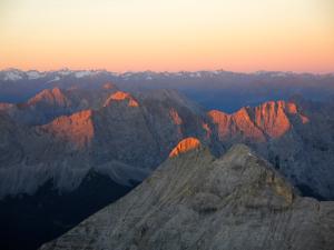 Leuchtende Gipfel