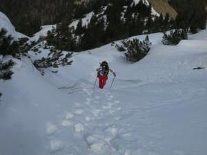 Schneestapferei im Vorkarwendel