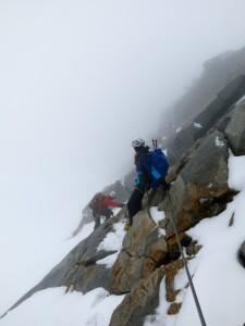 Schwierige Bedingungen an der Hochalmspitze
