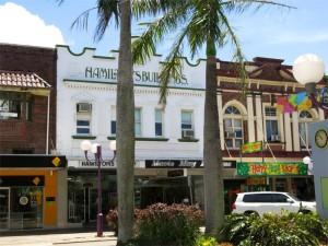 Das einigermaßen historische Stadtzentrum von Mackay