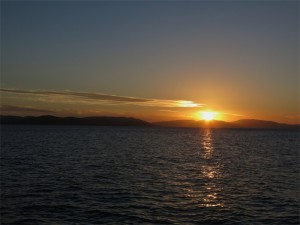 Sonnenuntergang auf der Matilda