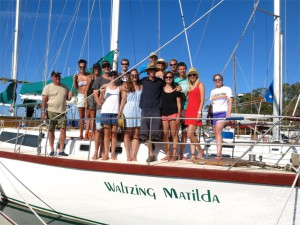 Gruppenbild mit Skipper