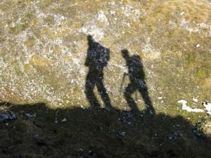 Wanderer an der Notkarspitze