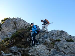 Steinige Passage am Kieneckspitz