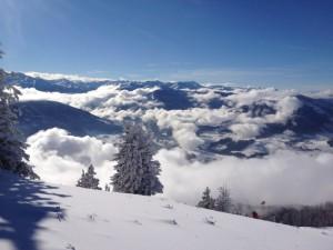 Winterimpressionen kurz unter dem Gipfel