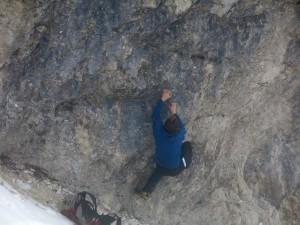 Boris kann das Bouldern nicht lassen.