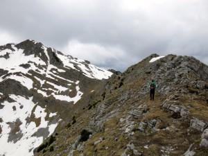 Der letzte Abschnitt zur Krapfenkarspitze