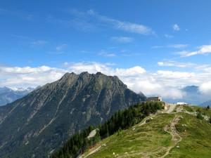 Bergstation mit Le Catogne im Hintergrund