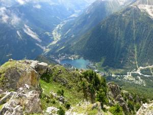 Tiefblick Vom Le Bonhomme auf Champex und Val Ferret