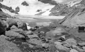 Der kleine See an der Cabane d'Orny