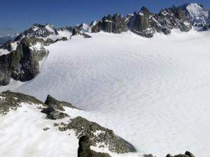 Die Cabane du Trient vor dem gleichnamigen Gletscherplateau