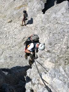 Einer der ersten Abstiege