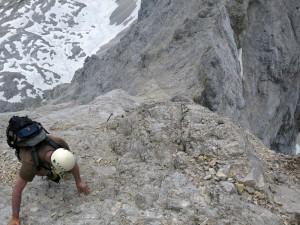 Im Abstieg von der Inneren Höllentalspitze