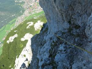 In der ersten Seillänge war der Fels noch etwas kalt.
