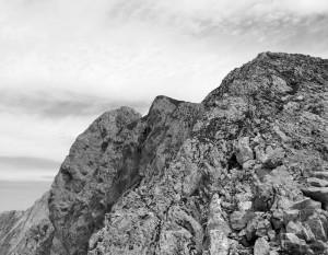 Nach sieben Seillängen ist es nicht mehr weit bis zum Gipfel.