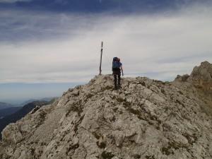 Am Gipfel des Gerberkreuzes