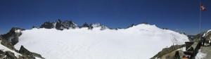 Die Cabane du Trient bietet eine fantastische Aussicht.