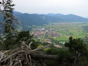 Schöne Aussicht auf Oberammergau