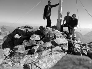Wir drei am Gipfel