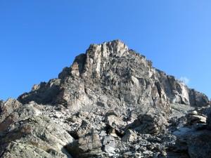 Der Gipfelaufbau der Verpeilspitze