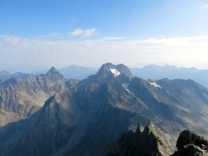 Gipfelblick nach Norden zur Rofelewand...