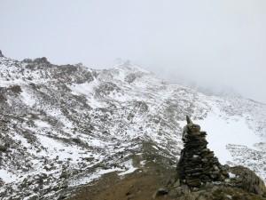 Frischer Schnee am Hochfeiler