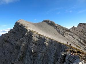 Franzi und Mark kurz vor dem Gipfel der Sonntagkarspitze