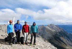 Gipfelphoto am höchsten Punkt der Überschreitung