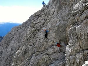 Herrlicher Kletterfels im Aufstieg zur Großen Stempeljochspitze